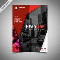 Design de brochura elegante vermelho