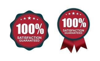 100 por cento de garantia de logotipo vetor