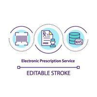 ícone de conceito de serviço de prescrição eletrônica