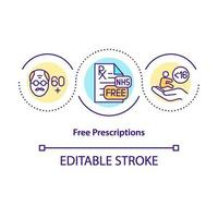 ícone de conceito de prescrição gratuita