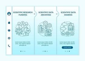 modelo de vetor de integração de financiamento de pesquisa científica