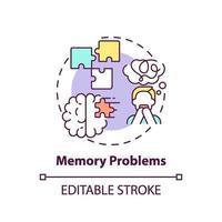 ícone de conceito de problemas de memória