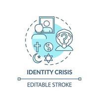ícone do conceito turquesa de crise de identidade vetor