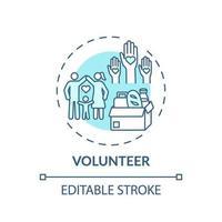 ícone do conceito de voluntário vetor