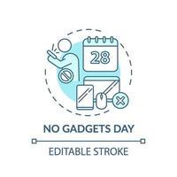 nenhum ícone de conceito de dia de gadgets vetor