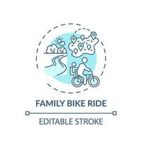 ícone do conceito de passeio de bicicleta em família vetor