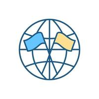 diplomacia ícone de cor rgb vetor