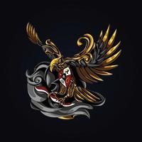 ilustração de arte garuda indonésio vetor