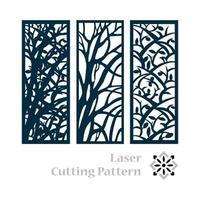 desenho de padrão islâmico de corte a laser vetor