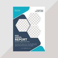 modelo de apresentação de capa de folheto de negócios vetor