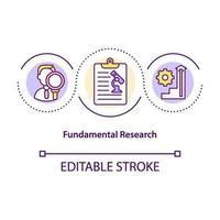 ícone do conceito de pesquisa fundamental vetor