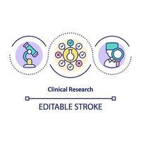 ícone do conceito de pesquisa clínica vetor