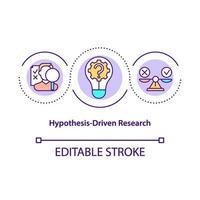 ícone de conceito de pesquisa baseada em hipóteses vetor