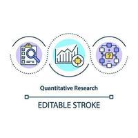 ícone do conceito de pesquisa quantitativa vetor
