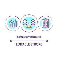 ícone do conceito de pesquisa comparativa vetor