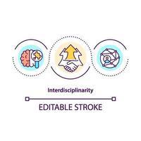 ícone do conceito de interdisciplinaridade vetor
