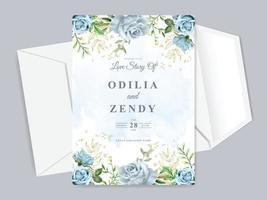 lindo modelo de cartão de convite de casamento vetor