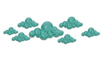 nuvem com vetor de ilustração do céu. cor pastel e tom gradiente. modelo de ilustração mínima para cartão, site, papel de parede infantil, plano de fundo e impressão.