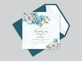 modelo de cartão de convite de casamento vetor