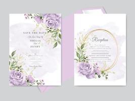 conjunto de modelos de cartão de convite de casamento vetor
