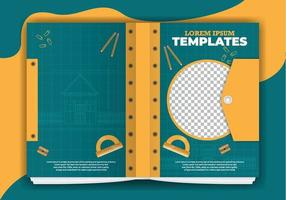 modelos de livro de projeto de arquitetura vetor