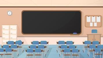 ilustração de fundo de sala de aula vazia vetor