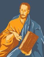 obras de arte de el greco domenikos theotokopoulos intituladas saint james the minor ou saint james the less cerca de 1609 arte do pôster wpa vetor