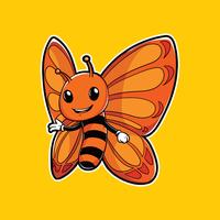 Mascote de inseto de borboleta vetor
