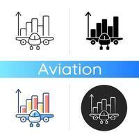ícone de análise de aviação vetor
