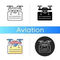 ícone de licença de drone vetor
