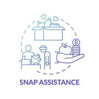 ícone do conceito de assistência instantânea vetor