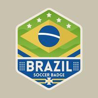 Emblemas do futebol da copa do mundo de Brasil vetor