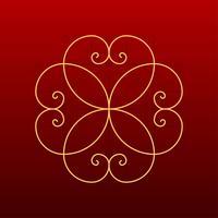Vector Decorativo Proporção Dourada