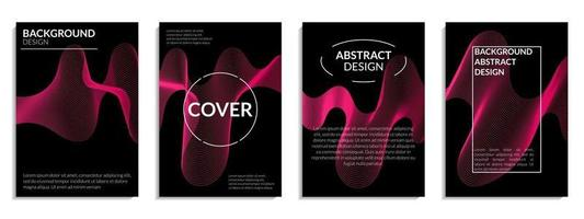 conjunto abstrato de linha ondulada gradiente rosa