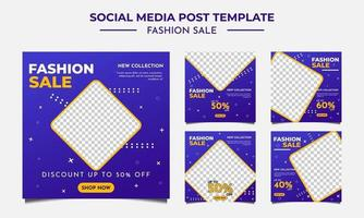mídia social modelo de postagem de venda de moda vetor