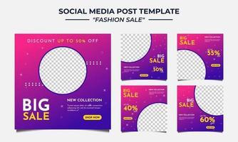 mídia social modelo de postagem de venda de moda