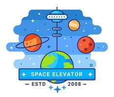 Ilustração do conceito de elevador de espaço vetor