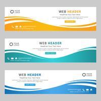 Cabeçalho da Web corporativa abstrata vetor