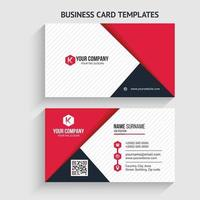 modelo de cartão de visita moderno. design de papelaria, design plano, modelo de impressão, ilustração vetorial. vetor