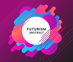 Fundo abstrato de futurismo vetor