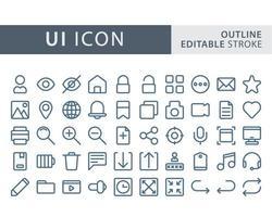 conjunto de conjunto de ícones de interface do usuário vetor