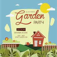 Modelo de convite para festa de jardim