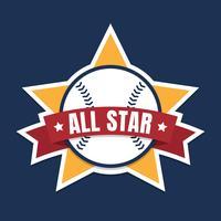 Gráfico de All Star do basebol ou do softball vetor
