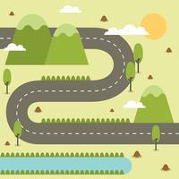 Ilustração de mapa de estrada vetor