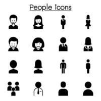 pessoas, homem, mulher, pessoa conjunto de ícones de ilustração vetorial design gráfico