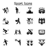 conjunto de ícones do esporte ilustração vetorial design gráfico