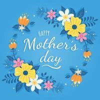 feliz dia das mães design de cartão comemorativo vetor