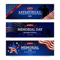 estandartes do dia do memorial vetor