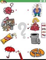 combinar pessoas, personagens e objetos, tarefa educacional vetor