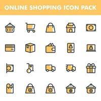 pacote de ícones de compras online vetor